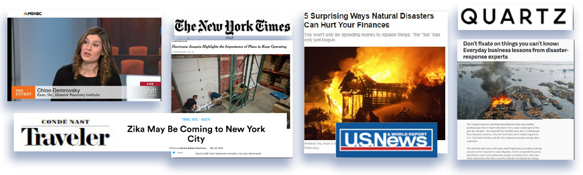 Media & publication placement for Disaster Recovery Institute