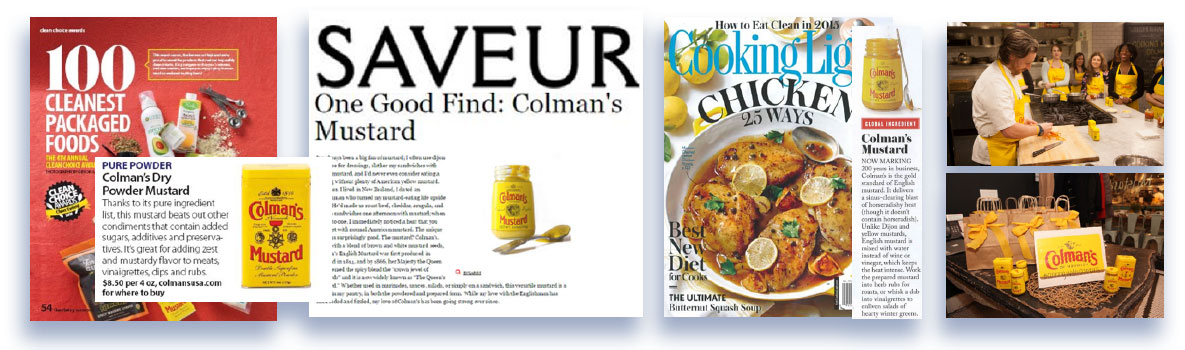 Media and publication placement for Colman's Mustard