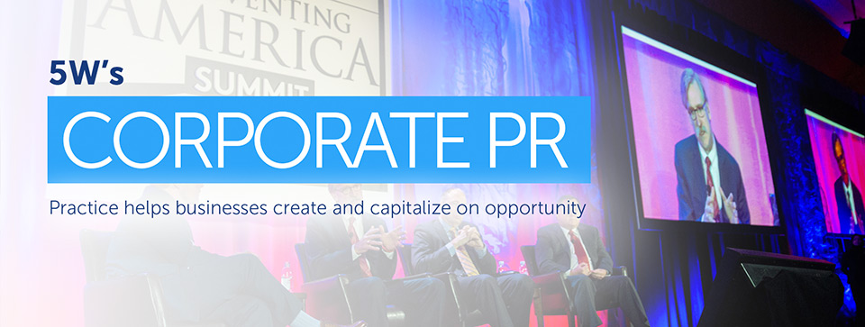 Public Relations Agency - 5W PR - PR Practice Area - NY firm