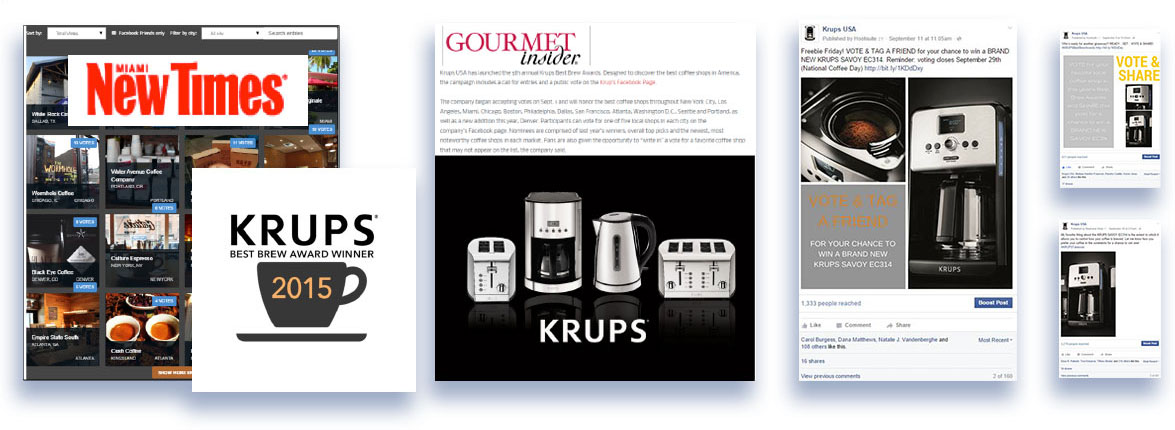 Media and publication placement for Krups