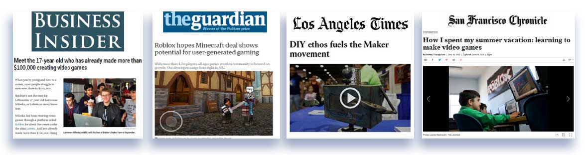 Media and publication placement for Roblox