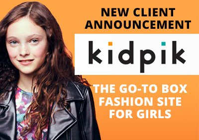 5WPR NAMED AGENCY OF RECORD FOR KIDPIK, THE GO-TO FASHION BOX SITE FOR GIRLS AGES 3-12