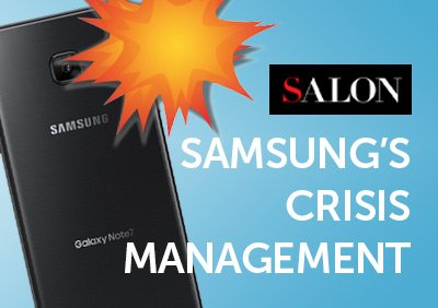 5W CEO TALKS TO SALON ABOUT SAMSUNG'S CRISIS MANAGEMENT