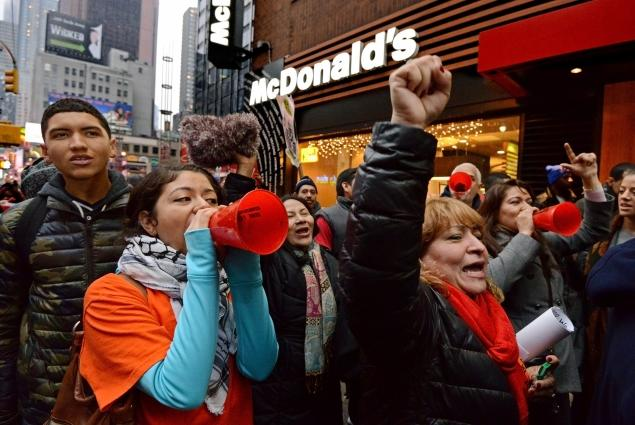 Fast Food Workers Protest