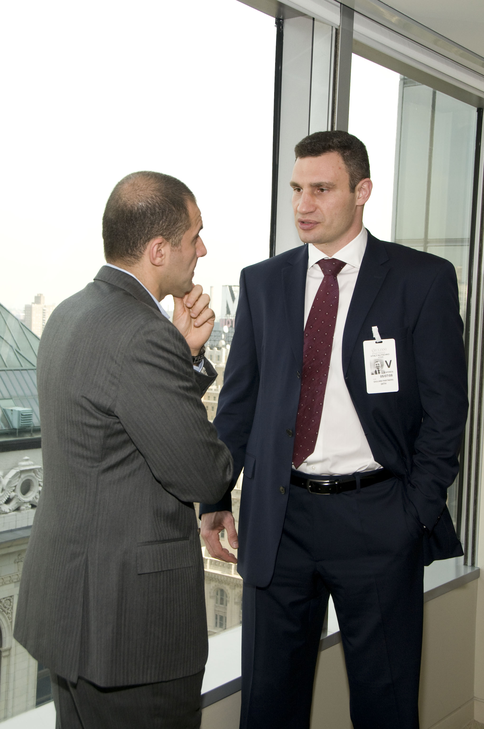 Vitali Klitschko with 5W PR CEO Ronn Torossian