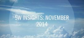 5W Insights: November 2014 – PR Agency Elite Awards Winner