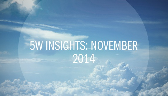 5W Insights: November 2014 – PR Agency Elite Awards Winner