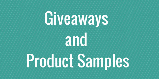giveaways and product samples - launch marketing
