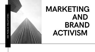 Marketing And Brand Activism